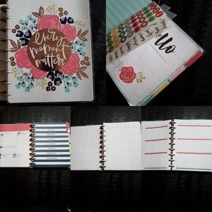 Happy Planner Undated Floral & Accessories Kit